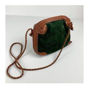 Vintage Green Suede Bag